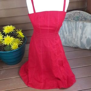 Ann Taylor straps red dress size 4